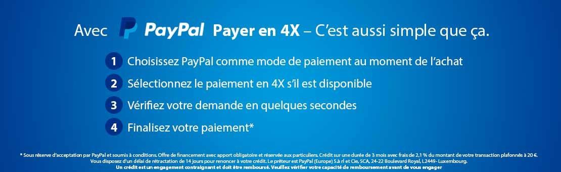 Payez en 4x avec Paypal